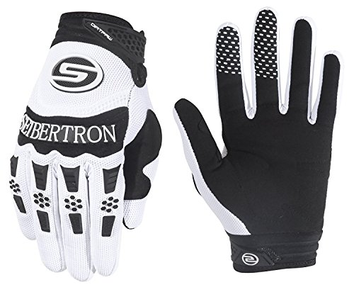 Seibertron Herren Handschuhe Dirtpaw Race Fahrrad Handschuhe sporthandschuhe für Radsport MTB Mountainbike Outdoor Sport Bike Gloves (weiß, S)