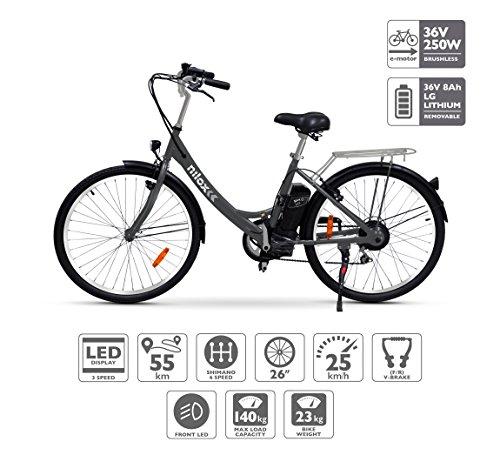 Nilox E Bike X5, Elektro Fahrrad, Schwarz, One Size