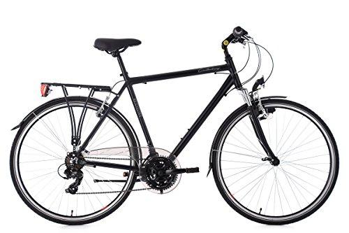 KS Cycling Herren Canterbury RH 58 cm Aluminiumrahmen Tourenlenker Trekkingrad, schwarz, 28