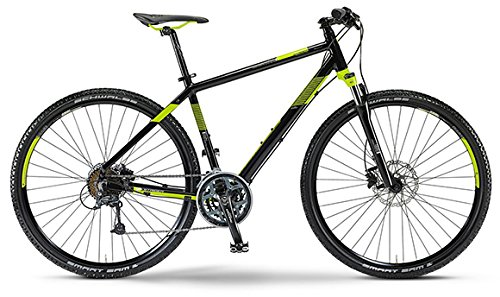 Staiger Idaho Herren-Crossrad 27-Gang Shimano Deore Kettenschaltung schwarz/lime (Rahmenhöhe 48)