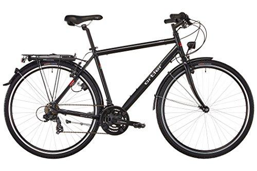 Ortler Lindau schwarz Glanz Rahmengröße 49 cm 2018 Trekkingrad