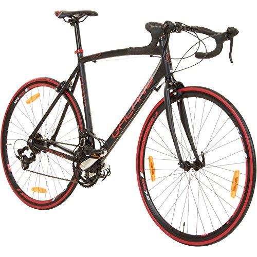 Galano 700C 28 Zoll Rennrad Vuelta Sti 4 Rahmengrößen 2 Farben, Farbe:schwarz/rot, Rahmengrösse:62 cm