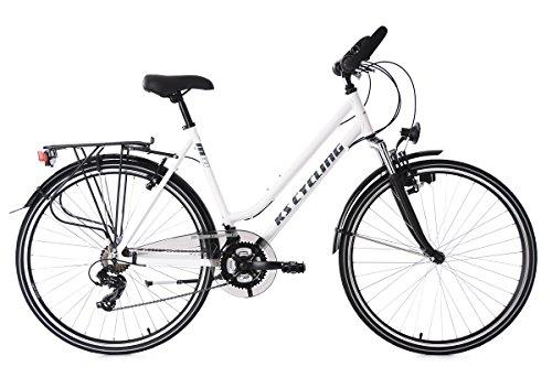 KS Cycling Damen Trekkingrad Alu-Rahmen 28'' Metropolis RH 53 cm Multipositionslenker Fahrrad, weiß