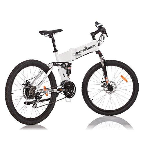 FLYING DONKEY Pedelec e-Bike Full-Suspension Mountainbike Elektro-Fahrrad Elektrisches Klapprad 250 Watt