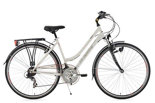 KS Cycling Damen Fahrrad Trekkingrad Vegas RH Flachlenker, Weiß, 28 Zoll, 111T